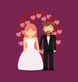just married couple design vector image vector image