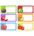 Label design with fresh fruits vector image vector image