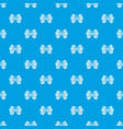 little butterfly pattern seamless blue vector image