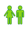 male and female sign lemon scribble icon vector image