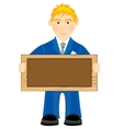 Man with board vector image