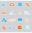 mathematics stickers set eps10 vector image