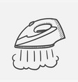 modern steam iron hand drawn sketch icon vector image vector image
