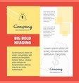 money bag company brochure title page design vector image vector image