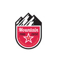 mountain adventure - concept badge design vector image vector image