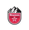 mountain adventure - concept badge design vector image vector image