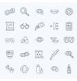 Oculist correction eyes health icons set vector image