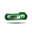 Print button sign vector image vector image