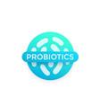 probiotics bacteria badge vector image vector image