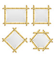 realistic 3d detailed bamboo shoots frames set vector image vector image