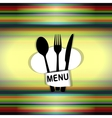 restaurant menu with chef hat line uno vector image