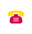 retro phone icon old vintage telephone symbol of vector image
