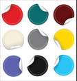 round sale stickers on white background collection vector image vector image