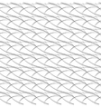 Seamless pattern of arcs black and white vector image vector image