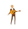 senior man playing guitar grandpa leading an vector image vector image