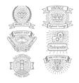 set abstract badges labels design elements vector image