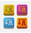 square button chart vector image