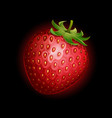 strawberry icon isolated on black background vector image vector image