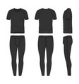 templates of t-shirt and jogging pants vector image vector image
