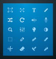 universal glyphs 3 photo set vector image vector image