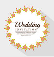 vintage wedding invitation with floral elements vector image