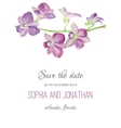 Wedding invitation watercolor with orchid flowers vector image vector image