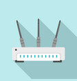 wifi router icon flat style vector image