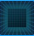 wireframe room sci-fi futuristic building vector image
