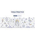Yoga Doodle Concept vector image