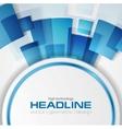 Blue shiny hi-tech background layout vector image