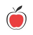 Modern Red apple vector image