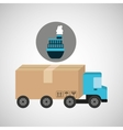 delivery truck concept cargo marine transport vector image