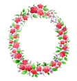 Watercolor flower wreath for greeting card vector image