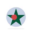 bangladesh flag star abstract circle background vector image
