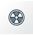 bio hazard outline symbol premium quality vector image vector image