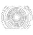 Black round tech circles outline drawing design vector image vector image