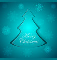 blue cristmas fir flakes pattern vector image