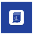 blue round button for software app application vector image