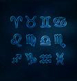 blue transparent zodiac signs vector image