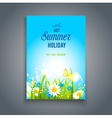 Bright summer card vector image vector image