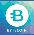 bytecoin bcn criptocurrency logo vector image