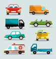 cars set car icons vector image
