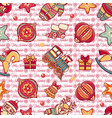 christmas toys seamless pattern holiday background vector image vector image