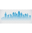 Cityscape blue icon on transparent background vector image vector image
