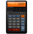 classic accounting calculator vector image vector image