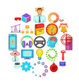 commercialist icons set cartoon style vector image vector image
