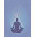 concept meditation enlightenment human vector image