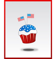 cupcake with USA flag concept vector image