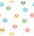 cute seamless pattern with hand drawn funny vector image