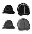 design of headgear and cap symbol set of vector image vector image